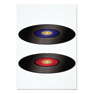 Invitaciones de los discos de vinilo invitación 8,9 x 12,7 cm