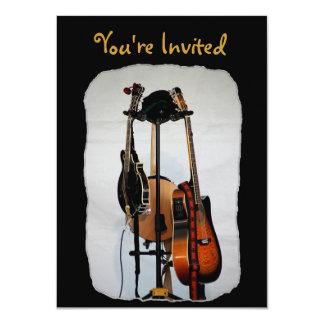 Invitaciones de los instrumentos musicales de la invitación 11,4 x 15,8 cm