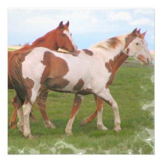 Invitaciones de los pares del caballo invitacion personal