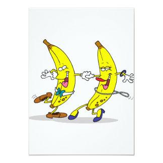 Invitaciones de los plátanos del baile invitación 12,7 x 17,8 cm