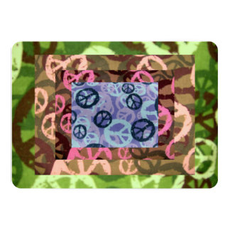 Invitaciones de los signos de la paz del invitación 12,7 x 17,8 cm