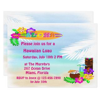 Invitaciones de Luau de la hawaiana Invitación 12,7 X 17,8 Cm