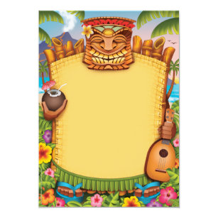 Invitaciones De Luau Invitaciones Hawaianas Del