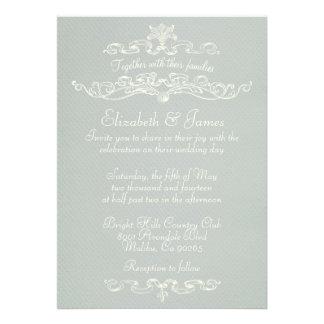 Invitaciones de lujo simples de la bodas de plata