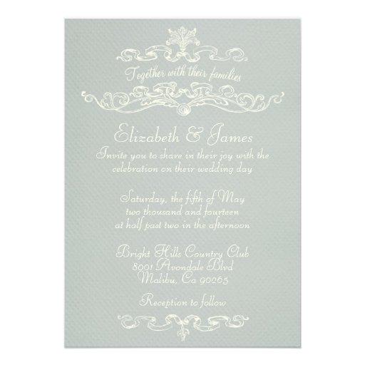 Invitaciones de lujo simples de la bodas de plata invitación