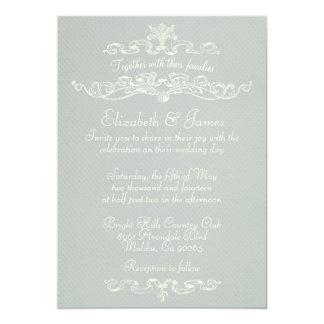 Invitaciones de lujo simples de la bodas de plata invitación 12,7 x 17,8 cm