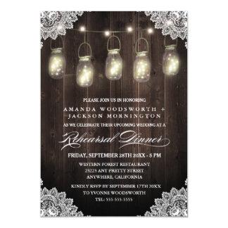 Invitaciones de madera de la cena del ensayo del