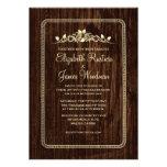Invitaciones de madera del boda del granero del vi