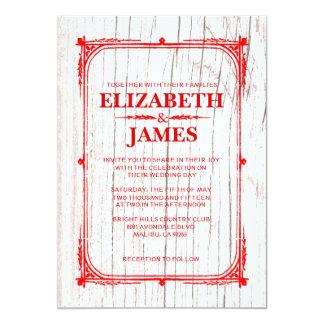 Compra tus invitaciones de boda con diseños en rojo y blanco en la gran selección de Zazzle.