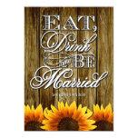 Invitaciones de madera occidentales del boda del invitación personalizada