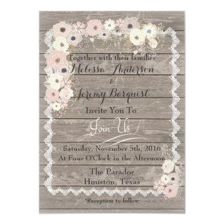 Invitaciones de madera resistidas encanto del boda