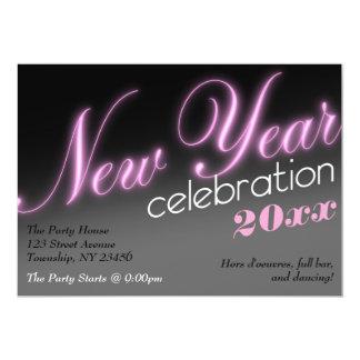 Invitaciones de neón del fiesta de la celebración invitación 12,7 x 17,8 cm