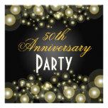 Invitaciones de oro, 50.as del aniversario comunicados personales
