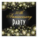 Invitaciones de oro, 50.as del aniversario invitación 13,3 cm x 13,3cm