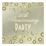 Invitaciones de oro, 50.as del aniversario invitacion personalizada