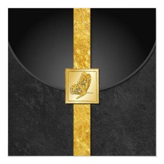 Invitaciones de oro del boda de la rareza de la invitación 13,3 cm x 13,3cm