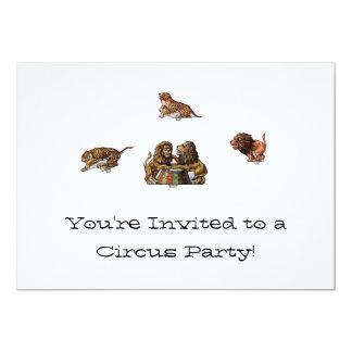 Invitaciones de papel del circo de la muñeca invitación 12,7 x 17,8 cm