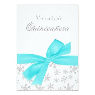 Invitaciones de plata de Quinceanera del arco del Invitación 12,7 X 17,8 Cm