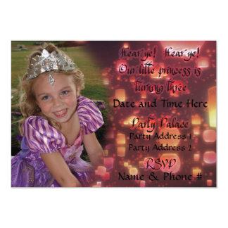 Invitaciones de princesa Turning 3 para el Invitación 12,7 X 17,8 Cm