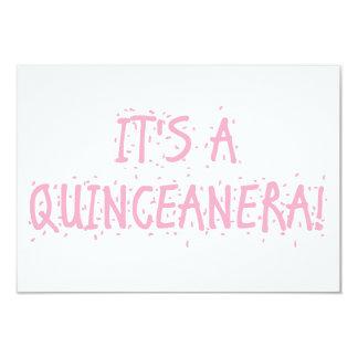 """Invitaciones de """"Quinceanera"""" Invitación 8,9 X 12,7 Cm"""