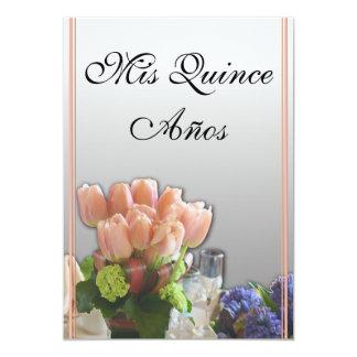 Invitaciones de Quinceanera en español Invitación 12,7 X 17,8 Cm