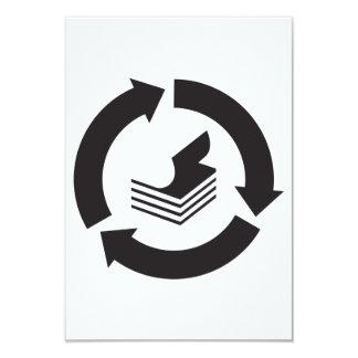 Invitaciones de reciclaje de papel invitación 8,9 x 12,7 cm