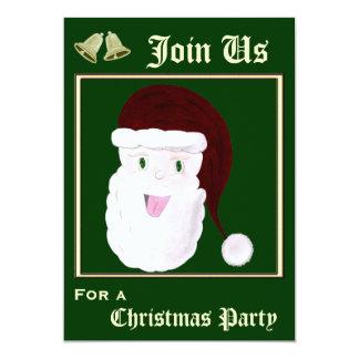 Invitaciones de risa de Santa (rojas) Invitación 12,7 X 17,8 Cm