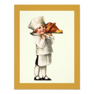 INVITACIONES de Turquía del cocinero del niño de Invitación 10,8 X 13,9 Cm