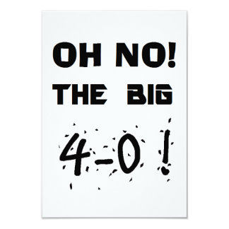 """invitaciones del """"40.o cumpleaños"""" invitación 8,9 x 12,7 cm"""