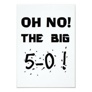 """invitaciones del """"50.o cumpleaños"""" invitación 8,9 x 12,7 cm"""