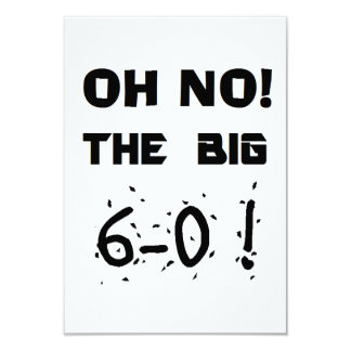 """invitaciones del """"60.o cumpleaños"""" invitación 8,9 x 12,7 cm"""
