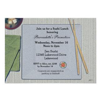 Invitaciones del almuerzo del sushi invitación 12,7 x 17,8 cm