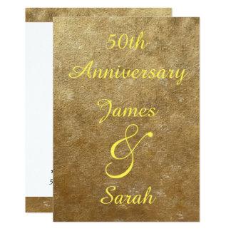 Invitaciones del aniversario de boda de las invitación 12,7 x 17,8 cm