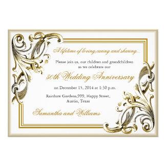 Invitaciones del aniversario de boda de oro invitaciones personales