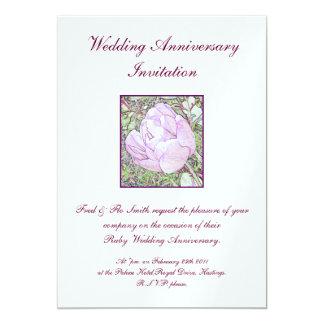 Invitaciones del aniversario de boda invitación 12,7 x 17,8 cm