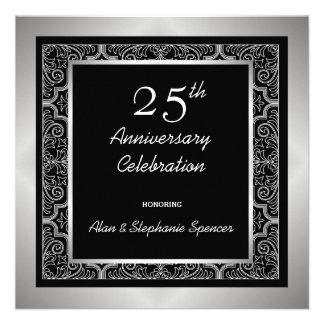 Invitaciones del aniversario de bodas de plata anuncios personalizados
