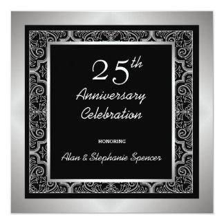 Invitaciones del aniversario de bodas de plata invitación 13,3 cm x 13,3cm