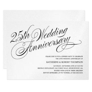 Invitaciones del aniversario de bodas de plata invitación 12,7 x 17,8 cm