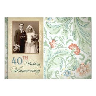 invitaciones del aniversario del vintage de la invitación 12,7 x 17,8 cm