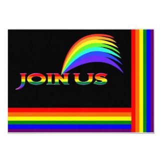 Invitaciones del arco iris invitación 12,7 x 17,8 cm