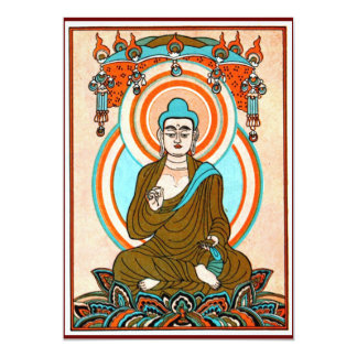 Invitaciones del arte de Buda del vintage Anuncio Personalizado