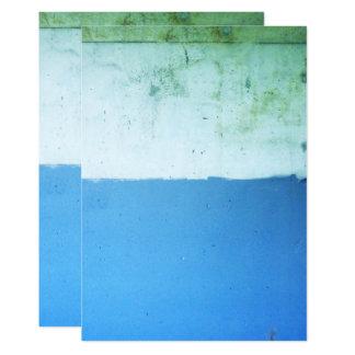 Invitaciones del azul del tono del Minimalist dos