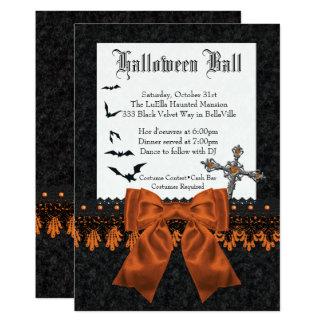 Invitaciones del baile de disfraces de Halloween