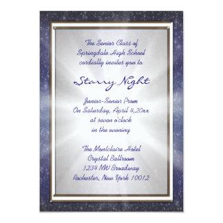 Invitaciones del baile de fin de curso de la noche invitación 12,7 x 17,8 cm