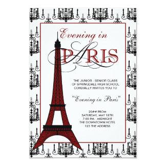 Invitaciones del baile de fin de curso de París Invitación 12,7 X 17,8 Cm