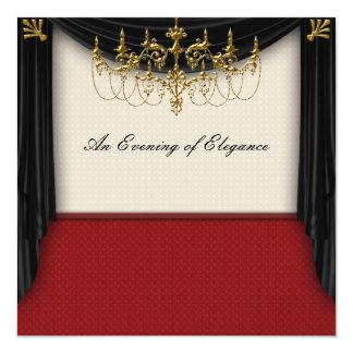 Invitaciones del baile de fin de curso del lazo invitación 13,3 cm x 13,3cm