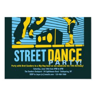 Invitaciones del baile de la calle invitación 12,7 x 17,8 cm