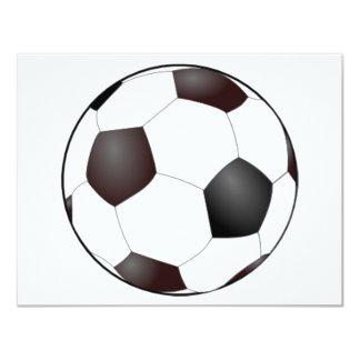 Invitaciones del balón de fútbol invitación 10,8 x 13,9 cm