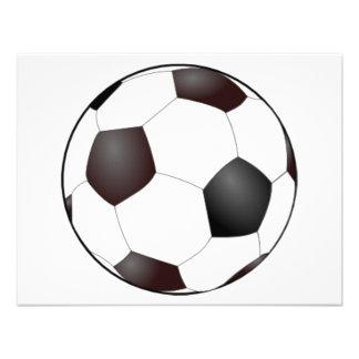 Invitaciones del balón de fútbol comunicado