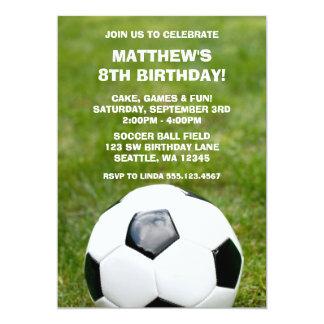 Invitaciones del balón de fútbol y de la fiesta de invitación 12,7 x 17,8 cm